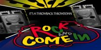 rock and come in banner stating throwback throwdown