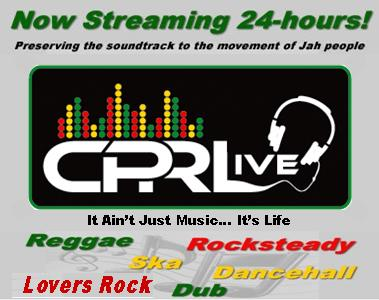 CPRLive logo with music types and stating now streaming 24-hours